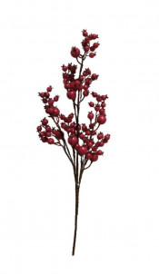 Berry Branch, Artificial Red Mixed Size Huckleberryerry Stem