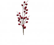 Berry Branch, Artificial Lg Red Berry Stem