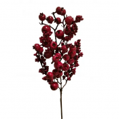 Berry Branch, Artificial Red Mixed Size Berry Stem