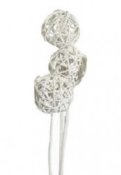 Accent Branch, Frosted Glitter Kamboi Ball on Stem. 3/bundle